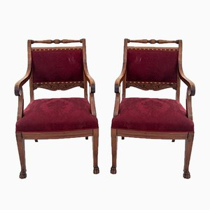 Antique Armchairs, 1920s, Set of 2