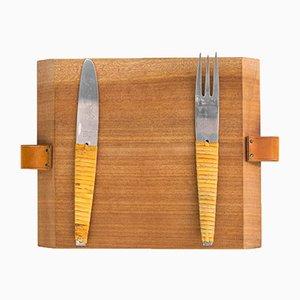 Picnic Cutting Boards by Carl Auböck for Werkstätte Carl Auböck, 1950s, Set of 3