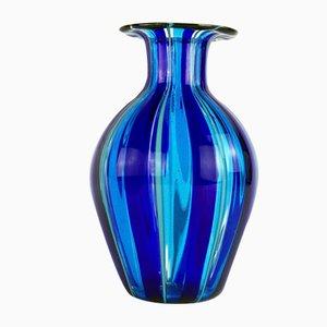 Gestreifte Murano Glasvase von Valter Rossi für VRM