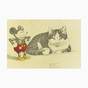 Cat & Mickey, Lithografie, 1970er