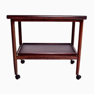 Danish Rosewood Tea Trolley by Grete Jalk, 1960s