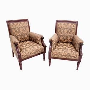Renovated Antique Armchairs, Circa 1900, Set of 2
