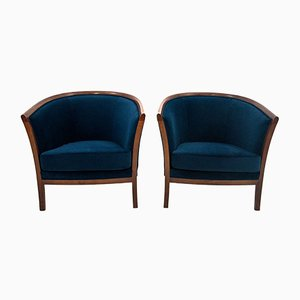 Renovated Antique Northern European Bergere Armchairs, Circa 1900, Set of 2