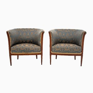 Renovated Antique Northern European Armchairs, 1920s, Set of 2