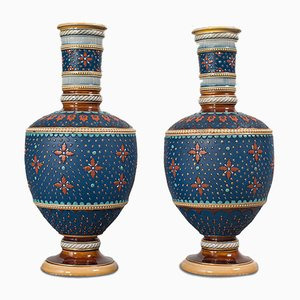 Antique German Decorative Vases, Set of 2