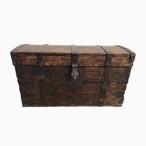 Baroque Style Wooden Trunk, 1800s