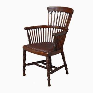Silla de escritorio victoriana de caoba