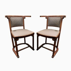 Beistellstühle von Josef Hoffmann für Mudus, 1920er, 2er Set