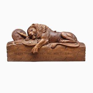 Lion of Lucerne Carving, 1800s