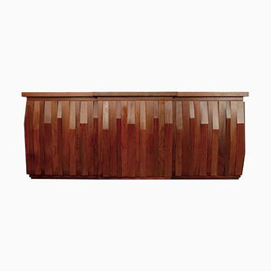 Graphic Rosewood Sideboard by Luciano Frigerio, 1960s