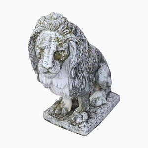Estatua neoclásica de león de jardín, años 30