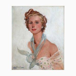 Jean-Gabriel Domergue, La Parisienne, óleo sobre lienzo, 1889-1962