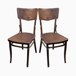 Antike Esszimmerstühle von Michael Thonet für Gebrüder Thonet Vienna GmbH, 2er Set