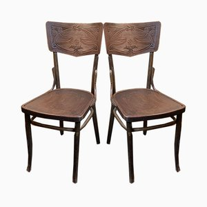 Antique Dining Chairs by Michael Thonet for Gebrüder Thonet Vienna GmbH, Set of 2