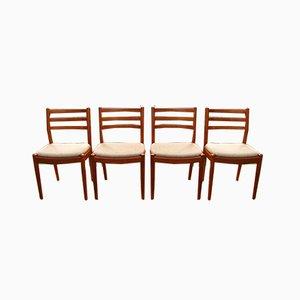 Vintage Teak Dining Chairs, Set of 4