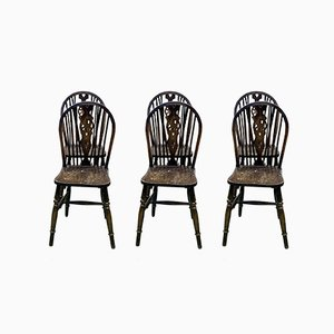 English Elm Dining Chairs, 1970s, Set of 6
