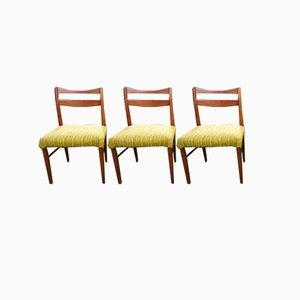 Skandinavische Vintage Esszimmerstühle, 3er Set