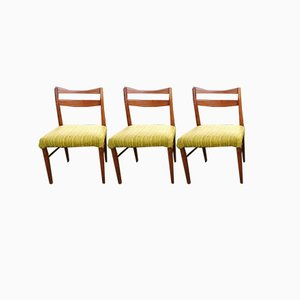 Vintage Scandinavian Dining Chairs, Set of 3