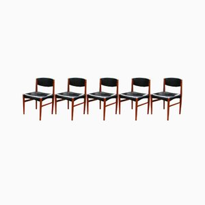 Vintage Scandinavian Style Dining Chairs, Set of 5