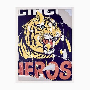 Mimmo Rotella, The Tiger, 1962/1997, Silkscreen and Collage