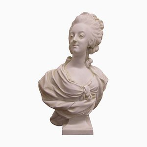 Antique Biscuit Bust of Marie Antoinette