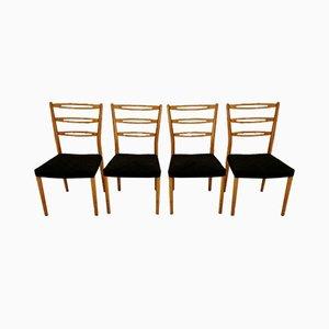 Schwedische Esszimmerstühle, 1970er, 4er Set