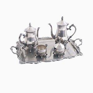 Servizio da caffè argentato, set di 5