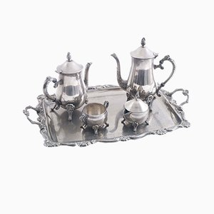 Silver Coffee Service Set, Set of 5