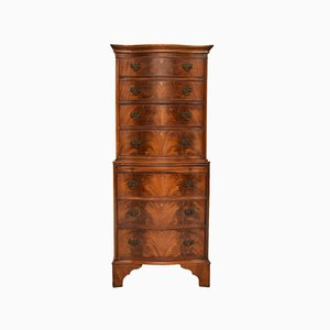 Antique Mahogany Serpentine Chest of Drawers
