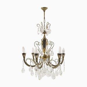 Lampada da soffitto in argento e oro, Italia, anni '20