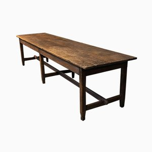Large French Rustic Oak Farmhouse Refectory Dining Table