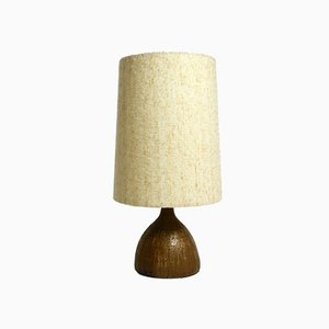 Ceramic Table Lamp with Large Fabric Shade, 1960s