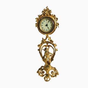 Viktorianische verzierte vergoldete Uhr