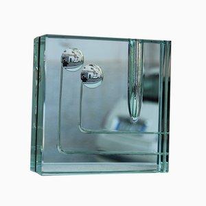 Vaso in cristallo specchiato di Gallotti & Radice, anni '60