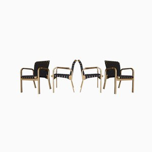 Vintage 45 Dining Chairs by Alvar Aalto for Artek, Set of 4