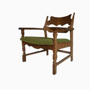 Mid-Century Razor Blade Easy Chair by Henning Kjærnulf for Eg