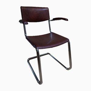 Chaise de Bureau Cantilever en Chrome avec Accoudoirs par Mart Stam pour DBP Bremshey & Co Solingen Ohligs, 1950s
