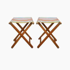 Vintage Folding Stools, 1950s, Set of 2