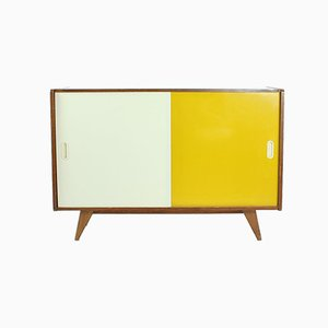 Mid-Century Yellow and Cream Sideboard by Jiří Jiroutek for Interier Praha, 1960s