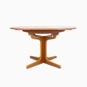 Mesa vintage redonda extensible restaurada