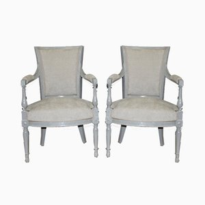 Antique Directoire Armchairs, Set of 2