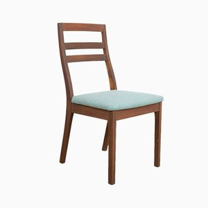 Vintage Teak Dining Chairs with Blue Upholstery from Nathan, Set of 4