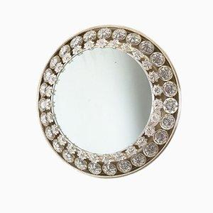 Specchio Mid-Century retroilluminato con cristalli di Palwa, anni '60