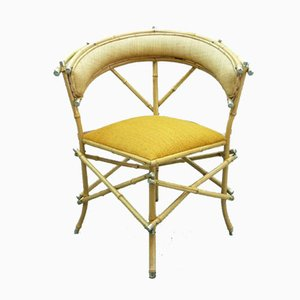 Chaise Abstraite Artisanale en Bambou, 1920s