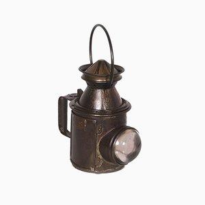 Italian Railway Manual Oil Lamp, 1920s