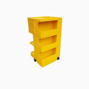Vintage Yellow Boby Trolley by Joe Colombo for Bieffeplast, 1972