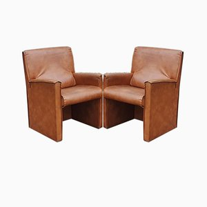 Leather Armchairs from Busnelli, 1964, Set of 2
