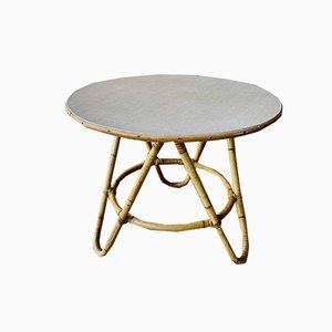 Tavolino da caffè Mid-Century in vimini, anni '60