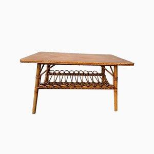 Table Basse en Rotin, 1970s