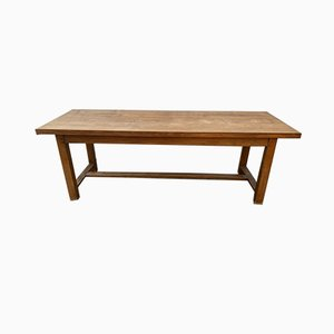 Tavolo da pranzo in legno di quercia massiccio, anni '50